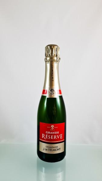 """J. De Telmont --- Champagne Grande Réserve """"Brut"""" --- Non Millésimé --- 37.5 cl"""