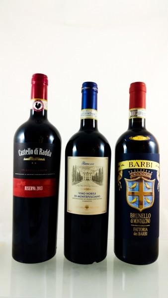 PROEFPAKKET #09:  Drie Toscaanse appellaties (sangiovese druif)