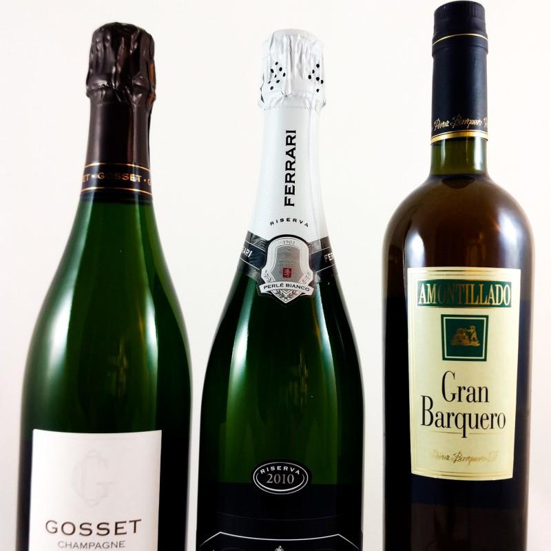 PROEFPAKKET # 01: Drie top aperitief wijnen --- 3 x 75 cl