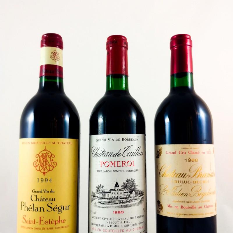 PROEFPAKKET:  rode Bordeaux - gerijpte wijnen