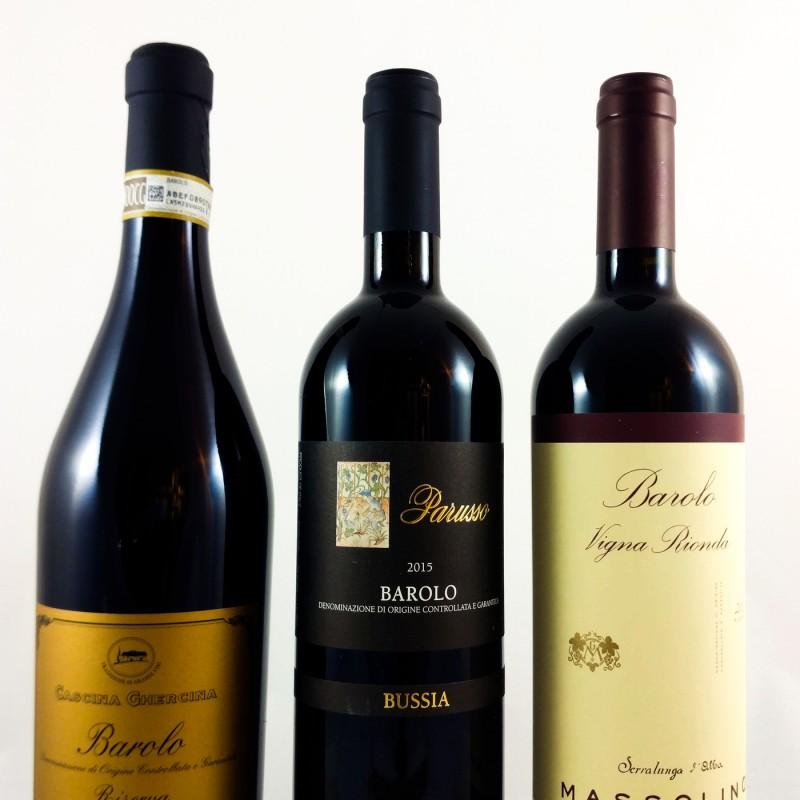 PROEFPAKKET #07:  Barolo's (Piemonte) met een score van 88 tot 96